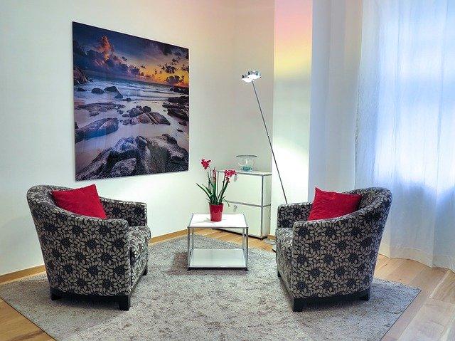 útulný obývací kout