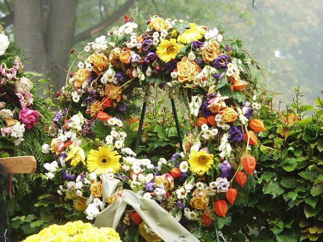věnec na hřbitově