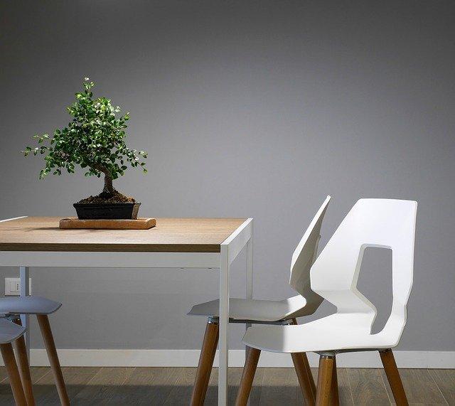 moderní bílé vyřezávané židle