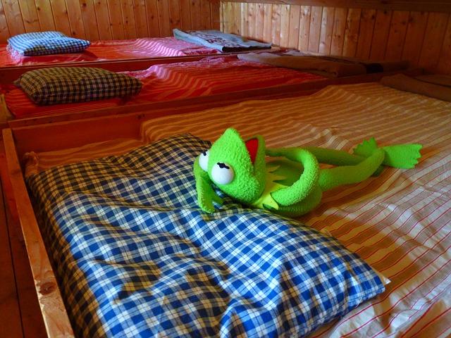 plyšová žába na posteli.jpg