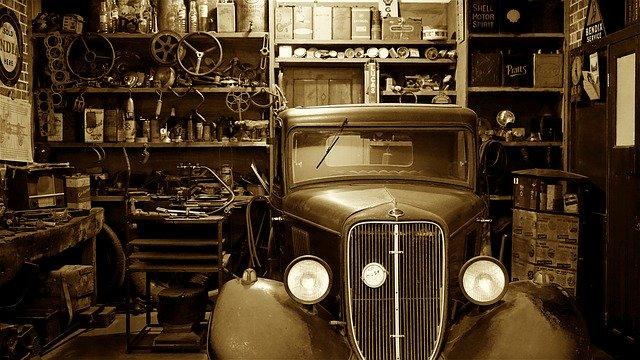 historická garáž